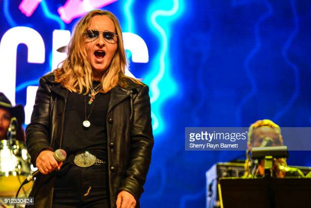 Melissa Etheridge performs at 2018 NAMM She Rocks Awards held at The Anaheim House Of Blues on January 26 2018 in Anaheim CA
