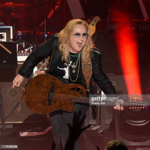 Melissa Etheridge performs onstage at Los Angeles LGBT Center Celebrates 50th Anniversary With Hearts Of Gold Concert Multimedia Extravaganza at The...