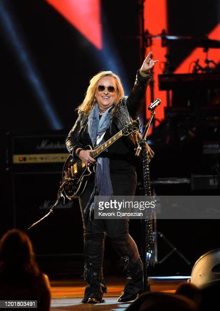 Melissa Etheridge performs onstage at MusiCares Person of the Year honoring Aerosmith at West Hall at Los Angeles Convention Center on January 24...