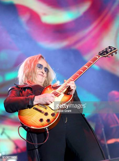 Melissa Etheridge performs onstage at The 2018 NAMM Show at Anaheim Convention Center on January 26 2018 in Anaheim California