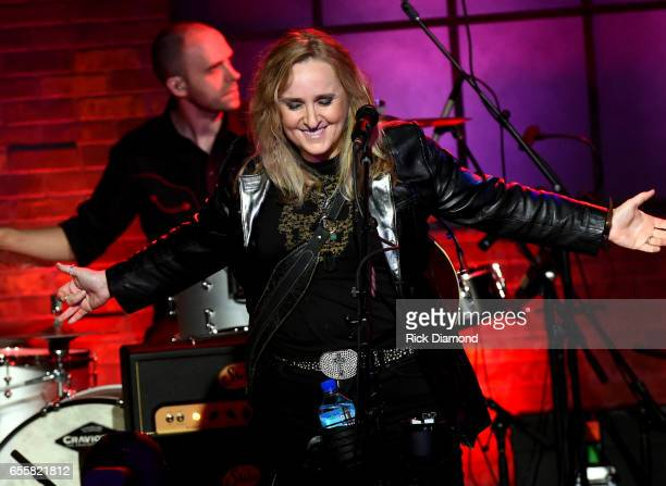Melissa Etheridge performs onstage during a special Woman's March Show at Skyville Live on March 20 2017 in Nashville Tennessee