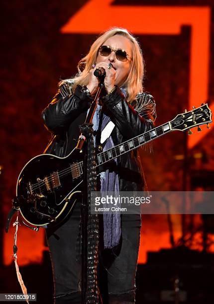 Melissa Etheridge performs onstage during MusiCares Person of the Year honoring Aerosmith at West Hall at Los Angeles Convention Center on January 24...