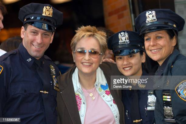 Melissa Etheridge with the NYPD during Melissa Etheridge Performs on 'Good Morning America' October 19 2005 at 'Good Morning America' Studios in New...