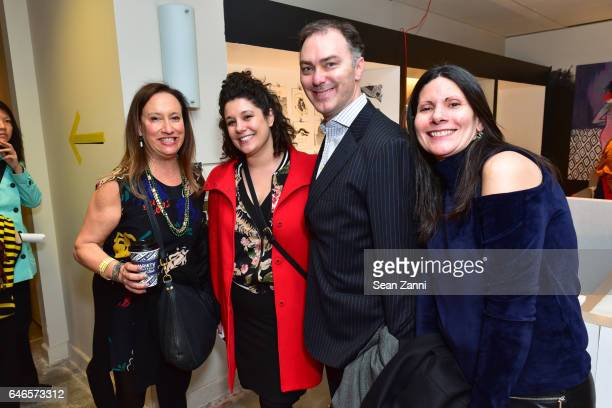 Melissa Feldman Jessica Wessel Warren Winegar and Suzanne Siano attend Spring Break Art Fair 2017 Vernissage at 4 Times Square on February 28 2017 in...