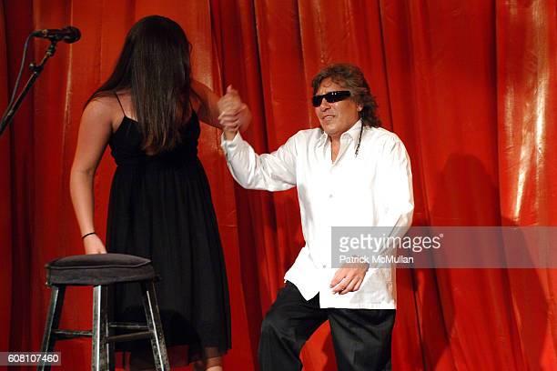 Melissa Feliciano and Jose Feliciano attend Raffles Resort Canouan Island Jose Feliciano Performance and Dinner at Bellini's at Raffles Resort...