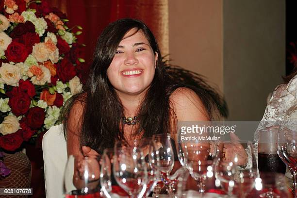 Melissa Feliciano attends Raffles Resort Canouan Island Jose Feliciano Performance and Dinner at Bellini's at Raffles Resort Canouan Island on March...