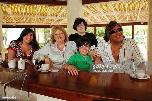 Melissa Feliciano Susan Feliciano Michael Feliciano John Feliciano and Jose Feliciano Family Portrait at Raffles Resort Canouan Island at Raffles...