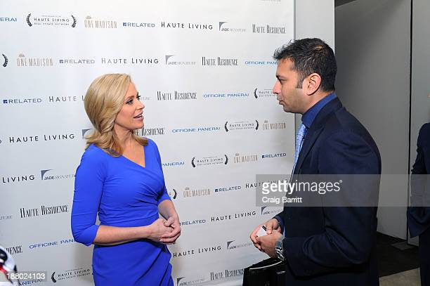 Melissa Francis and Haute Living CEO Kamal Hotchandani attend the Haute Living New York City Real Estate Summit on November 14 2013 in New York City