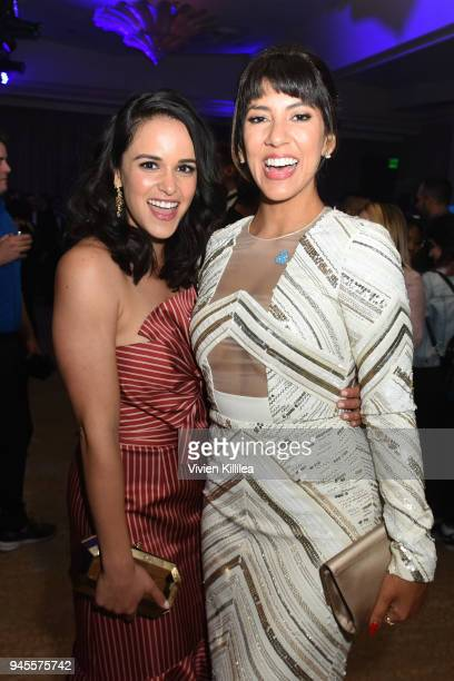 Melissa Fumero and Stephanie Beatriz attend the Hyundai AfterParty at the 29th Annual GLAAD Media Awards Los Angeles at The Beverly Hilton Hotel on...