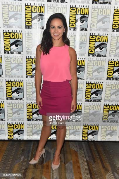 Melissa Fumero attends 'Brooklyn NineNine' Press Line during ComicCon International 2018 at Hilton Bayfront on July 19 2018 in San Diego California
