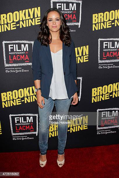 Melissa Fumero attends Film Independent's an evening with 'Brooklyn NineNine' at LACMA on May 7 2015 in Los Angeles California
