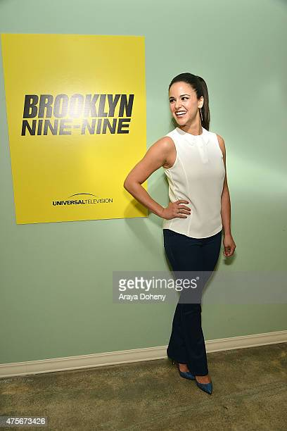 Melissa Fumero attends the Brooklyn NineNine FYC Panel at UCB Sunset Theater on June 2 2015 in Los Angeles California