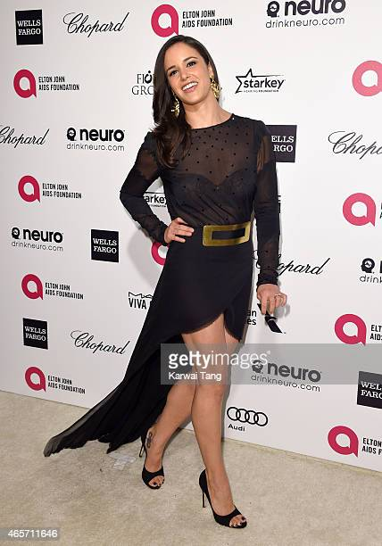 Melissa Fumero attends the Elton John AIDS Foundation's 23rd annual Academy Awards Viewing Party at The City of West Hollywood Park on February 22...