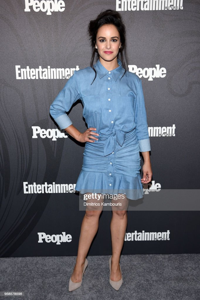 Melissa Fumero of Brooklyn 99 attends Entertainment Weekly & PEOPLE New York Upfronts celebration at The Bowery Hotel on May 14, 2018 in New York City.