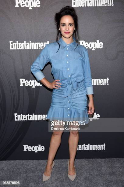 Melissa Fumero of Brooklyn 99 attends Entertainment Weekly PEOPLE New York Upfronts celebration at The Bowery Hotel on May 14 2018 in New York City