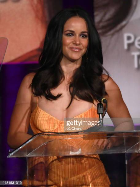 Melissa Fumero speaks onstage during the 22nd Annual National Hispanic Media Coalition Impact Awards Gala at Regent Beverly Wilshire Hotel on...