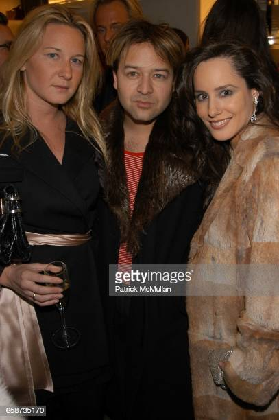 Melissa Gellman Alvin Valley and Pamela Fielder attend Furla New York Flagship store opening at Furla on February 11 2004 in New York City