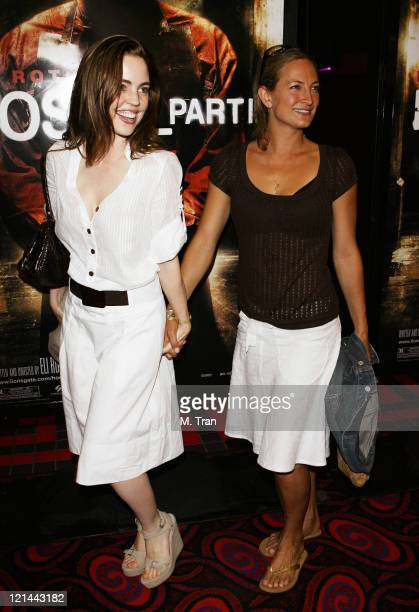 Melissa George and Zoe Bell during 'Hostel Part II' Los Angeles Premiere Arrivals at Mann's Chinese 6 in Hollywood California United States