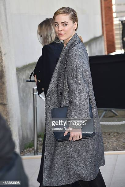 Melissa George arrives at Celine Fashion Show during Paris Fashion Week Fall Winter 2015/2016 on March 8 2015 in Paris France