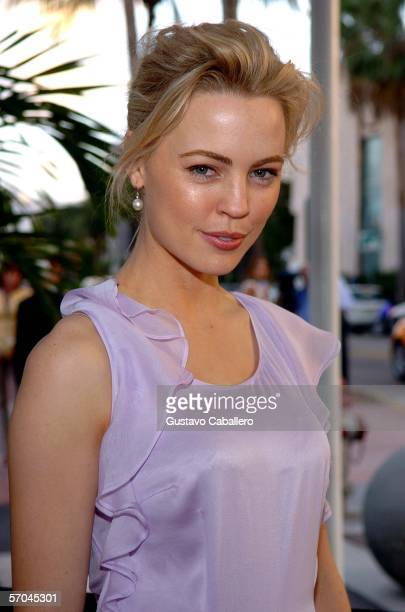 Melissa George arrives at the Colony Theatre on Lincoln Road following the world premiere of Pretentiendo at the 2006 Miami International Film...