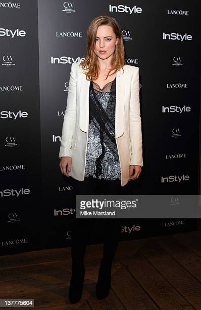 Melissa George attends InStyle Best Of British Talent party at Shoreditch House on January 26 2012 in London England