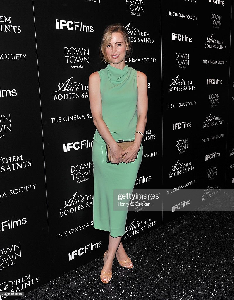 Melissa George attends the Downtown Calvin Klein with The Cinema Society screening of IFC Films' 'Ain't Them Bodies Saints' at Museum of Modern Art on August 13, 2013 in New York City.