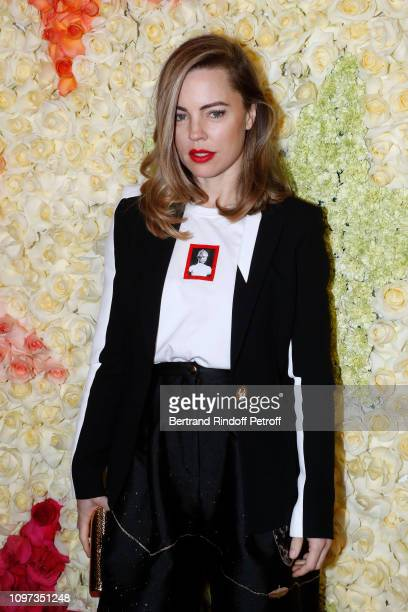Melissa George attends the Schiaparelli Haute Couture Spring Summer 2019 show as part of Paris Fashion Week on January 21 2019 in Paris France