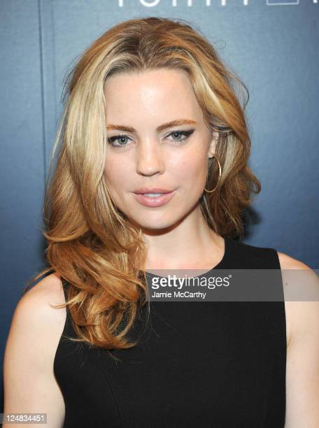 Melissa George backstage during the Tommy Hilfiger Spring 2012 Women's Collection at The Theater at Lincoln Center on September 11 2011 in New York...