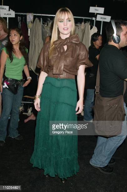Melissa George during Olympus Fashion Week Spring 2006 BCBG Max Azria Front Row and Backstage at Bryant Park in New York City New York United States