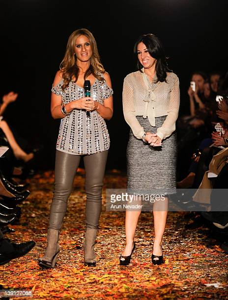 Melissa Gerstein and Denise Albert walks the runway for Strut The Fashionable Mom Show Runway at The Donald Mary Oenslager Gallery on February 16...