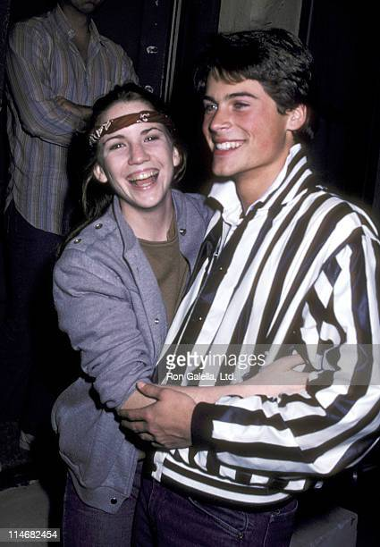 Melissa Gilbert and Rob Lowe during Melissa Gilbert and Rob Lowe Sighting at Santa Monica Bowling Alley in Santa Monica - January 23, 1982 at Santa...