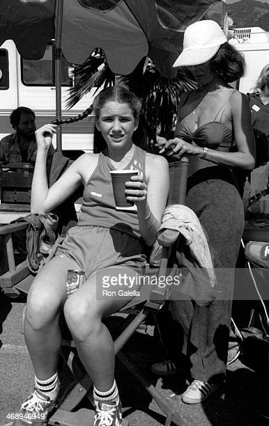 Melissa Gilbert attends the taping of 'Battle of the Network Stars' on October 6 1979 at Pepperdine University in Malibu California