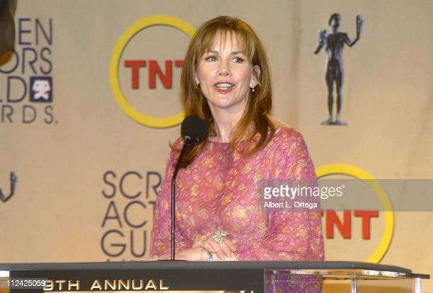 Melissa Gilbert during Ninth Annual Screen Actors Guild Awards - Nominations Press Conference at Skirball Cultural Center in Los Angeles, California,...