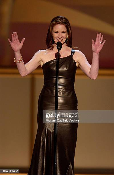Melissa Gilbert newly reelected President of SAG addresses the audience at the 8th Annual Screen Actors Guild Awards