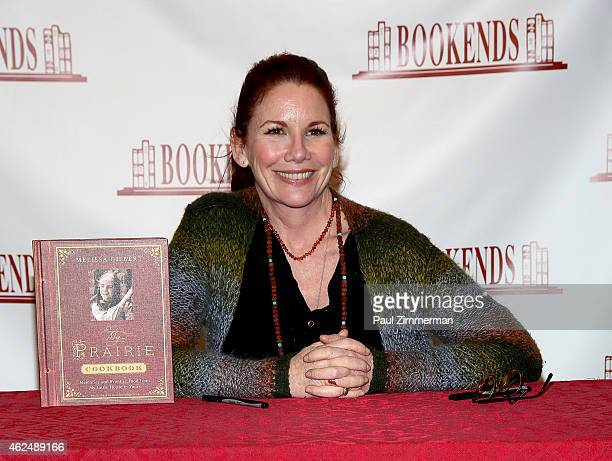 Melissa Gilbert signs copies of her new book My Prairie Cookbook at Bookends Bookstore on January 29 2015 in Ridgewood New Jersey