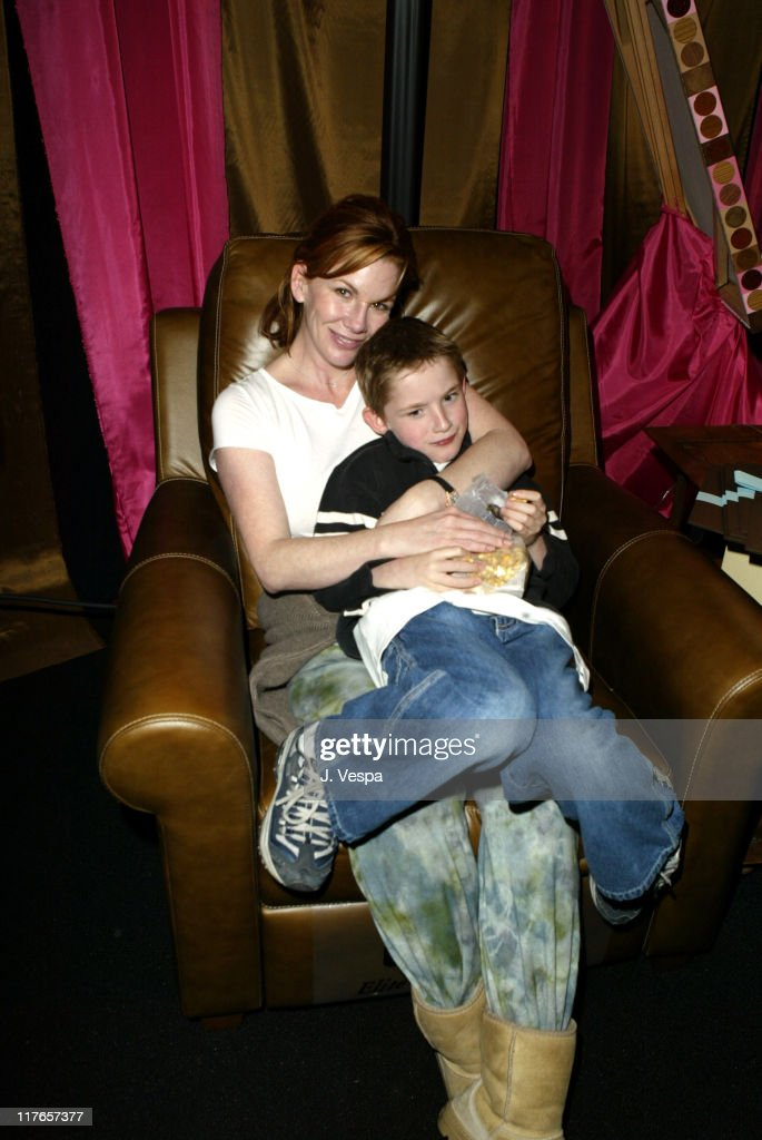 Melissa Gilbert with Elite Leather recliner during 2004 Screen Actors Guild Awards - Backstage Creations Day One at The Shrine Auditorium in Los Angeles, California, United States.