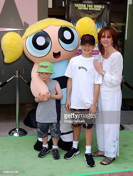 "Melissa Gilbert with sons Michael & Dakota during ""The Powerpuff Girls Movie"" Premiere at Loews Century Plaza Theatre in Century City, California,..."