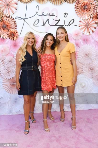 "Melissa Gisoni, Mackenzie Ziegler and Maddie Ziegler attend Mackenzie Ziegler Launches New Beauty Line ""Love, Kenzie"" on September 16, 2018 in West..."