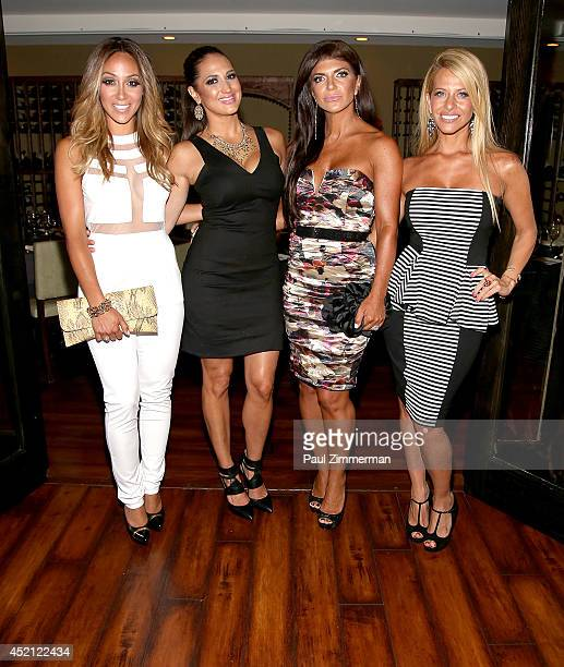 "Melissa Gorga, Amber Marchese, Teresa Giudice and Dina Manzo attend the ""Real Housewives Of New Jersey"" Season Six Premiere Party on July 13, 2014 in..."
