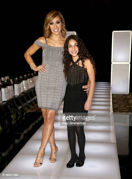 Melissa Gorga and Antonia Gorga pose at the envy By Melissa Gorga Fashion Show at Macaluso's on March 30 2016 in Hawthorne New Jersey