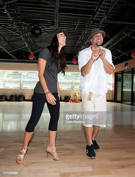 Melissa Gorga and Cris Judd rehearse at The Fred Astaire Dance Studio on August 18 2011 in Montville New Jersey