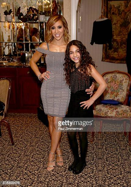 Melissa Gorga and daughter Antonia Gorga pose at the envy By Melissa Gorga Fashion Show at Macaluso's on March 30 2016 in Hawthorne New Jersey
