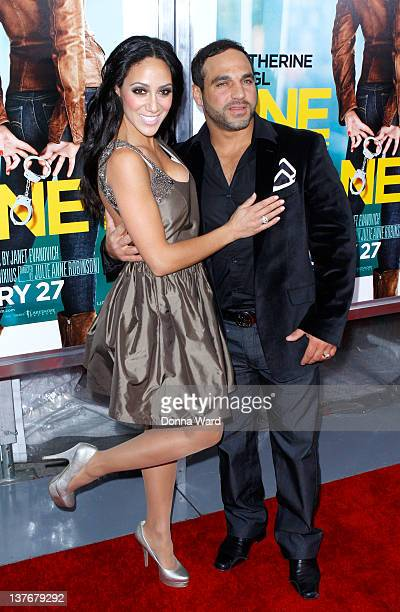 Melissa Gorga and Joe Gorga attend the One for the Money premiere at the AMC Loews Lincoln Square on January 24 2012 in New York City