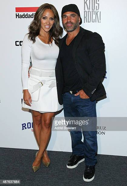 Melissa Gorga and Joe Gorga pose backstage at the Kids Rock fashion show during Spring 2016 New York Fashion Week The Shows at The Dock Skylight at...