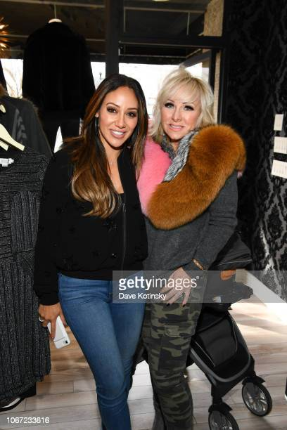 Melissa Gorga and RHONJ Margaret Josephs arrive at envy by Melissa Gorga Boutique on December 1 2018 in Montclair New Jersey