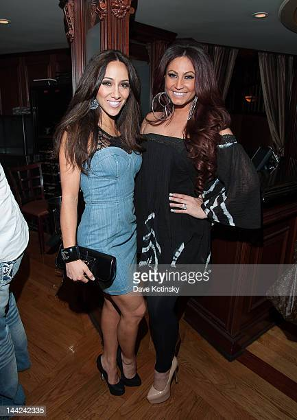 Melissa Gorga and Tracy Dimarco attends at Chris Michaels Steakhouse on May 11 2012 in Woodbridge New Jersey
