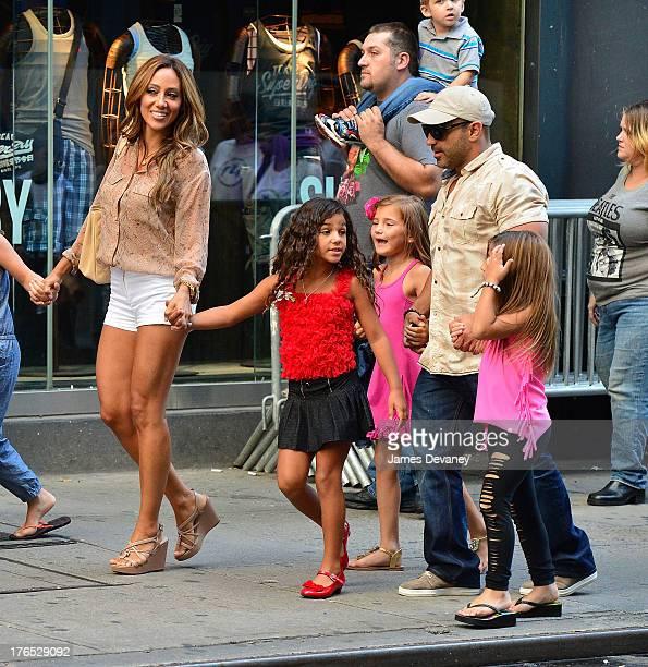 Melissa Gorga Antonia Gorga Gabriella Giudice Joe Gorga and Milania Giudice seen on the streets of Manhattan after attending ANNIE the Musical on...