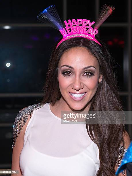 Melissa Gorga attends the 4th annual New Year's Eve Extravaganza hosted by Melissa Gorga at AMC Loews 34th Street 14 theater on December 31 2014 in...