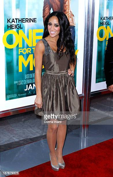 Melissa Gorga attends the One for the Money premiere at the AMC Loews Lincoln Square on January 24 2012 in New York City