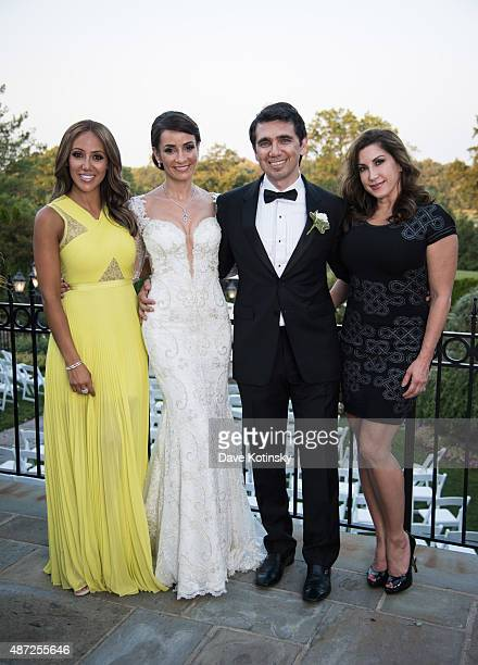 Melissa Gorga Dr Sheila Malek Dr Ramtin Kassir MD and Jacqueline Laurita pose at the wedding of plastic surgeon and television personality Dr Ramtin...